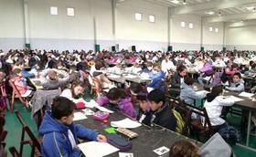 Más de 30.000 niños participaron en las Olimpíadas de Matemática en Los Pinos