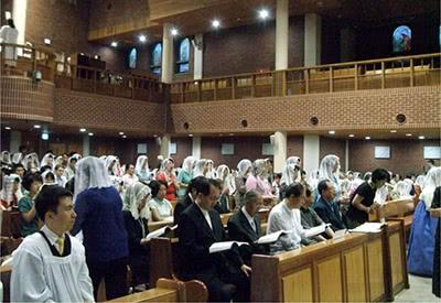 Misa en la parroquia de Cheong Rangli.