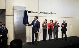 Los Reyes visitan Pamplona para inaugurar el Museo Universidad de Navarra