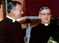 FR. JOSEPH Muzquiz and Msgr. Escriva on October 2, 1953 on the 25th anniversary of Opus Dei