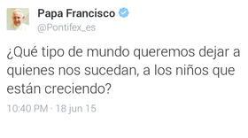 El Papa Francisco presenta la #LaudatoSi en Twitter