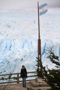 Una bandera en la Patagonia