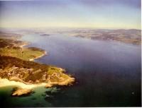 Vista aérea da Ría de Pontevedra