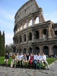 Residentes de Peñafiel y amigos en Roma
