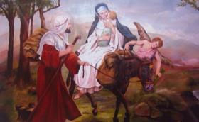 El UNIV regala al Papa un cuadro de la Huida a Egipto