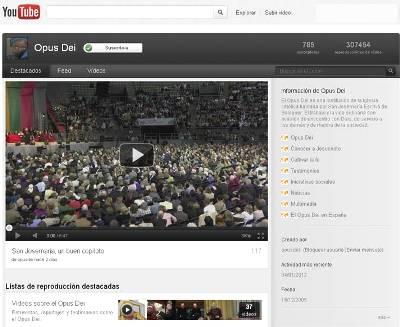Imagen del canal de Youtube de la Oficina de información del Opus Dei