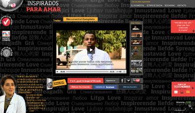 Imagen del website que ofrece el documental íntegro y permite a los lectores enviar su propio testimonio sobre cómo San Josemaría ha inspirado algún aspecto de su vida.