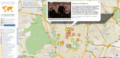 Mapa interactivo 'San Josemaría en Madrid. Los comienzos del Opus Dei'