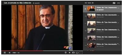 Lista de reproducción de vídeos breves de San Josemaría en www.youtube.com/opusdei
