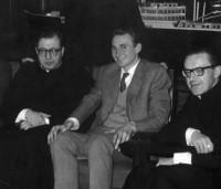 El P. Ramón y Pablo Pratmarsó, con San Josemaría, en Roma. Diciembre de 1961.
