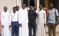 Con seminaristas de Abidjan