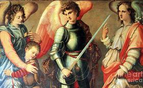 Os Arcanjos Miguel, Gabriel e Rafael