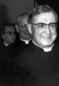 St. Josemaría Escrivá, with his two successors, Don Álvaro and Don Javier.