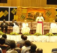 En Uganda, el encuentro con el Prelado se celebró en el Kampala Serena Hotel de la capital.