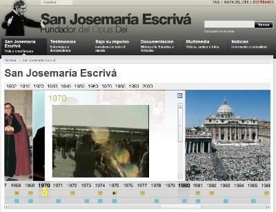 Gráfico interactivo de la vida de San Josemaría (www.josemariaescriva.info)