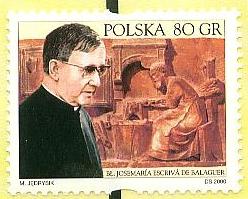 Opus Dei - Poczta Polska na Rok Jubileuszowy wydała znaczek z Założycielem Opus Dei