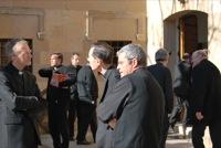 26.01.2010. Alguns dels participants a l'exterior de Castelldaura.