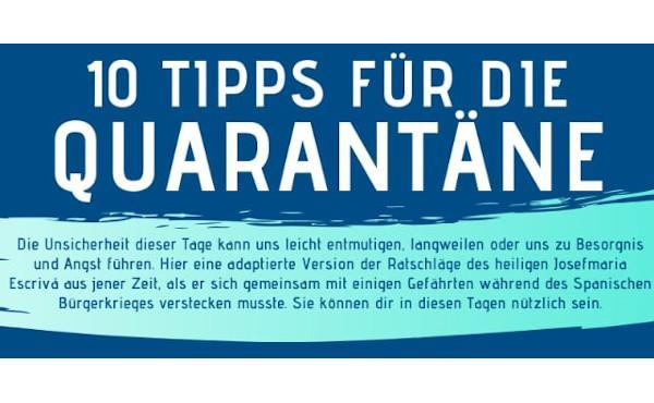 10 Ratschläge für die Quarantäne