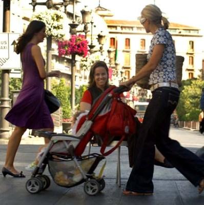 En una céntrica calle. Foto para un reportaje publicado en la prensa (Patri Díez).