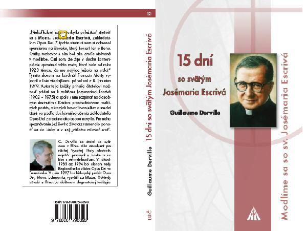 Opus Dei - 15 dní so svätým Josemaríom Escrivá
