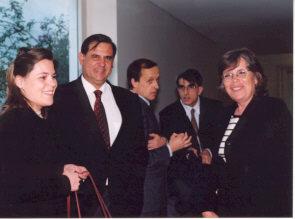 Durante um intervalo, Fernando Pinto Coelho e Fátima Fonseca.