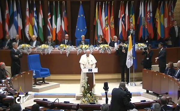 Papa Francesco all'Europarlamento di Strasburgo