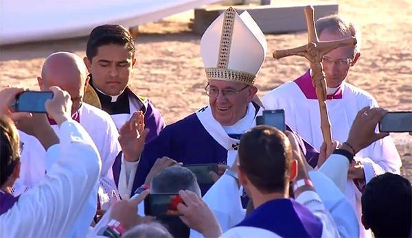 El Papa Franciso en Ciudad Juárez: misa y saludo final