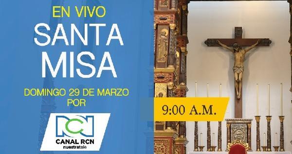 Opus Dei - Santa Misa del Cardenal Rubén Salazar en vivo por Canal RCN, marzo 29