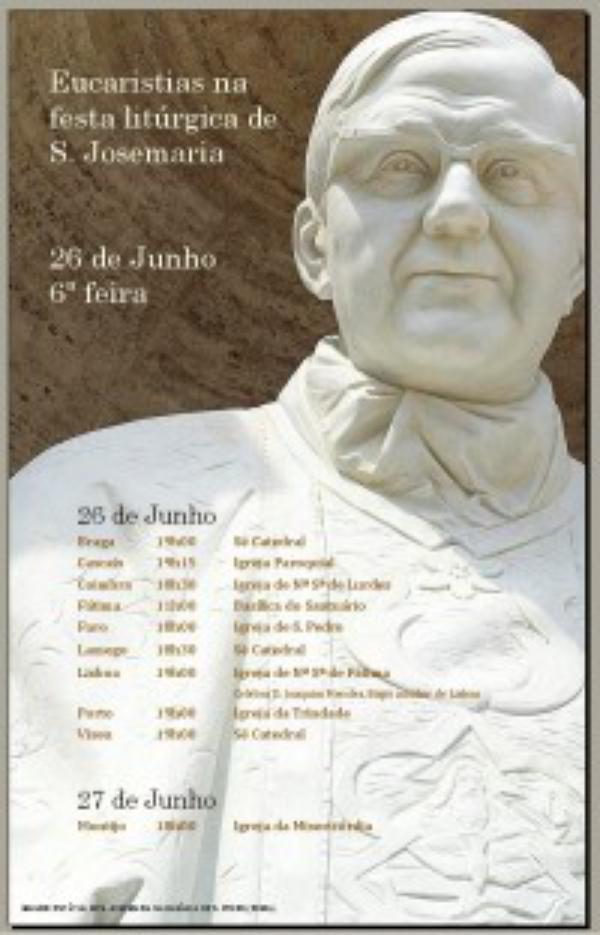 Missas em honra de S. Josemaria (Junho de  2009)