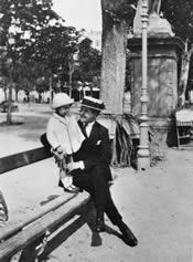Den hellige Josemaria og hans bror Santiago i Logroño (Spanien). Maj 1921.