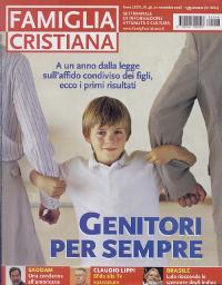 Bìa tuần báo'Famiglia Cristiana,' số đăng bài phỏng vấn của Đức Giám Mục Javier Echevarría.