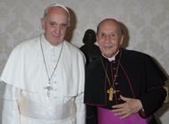 Audiencia del Papa Francisco a Mons. Javier Echevarría