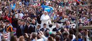 Los jóvenes, protagonistas de la primera audiencia general del Papa Francisco