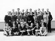 A DYA Akadémián; Madrid (Spanyolország), 1935. március.