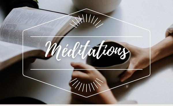 Méditation : 4 janvier