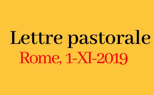 Opus Dei - Lettre du prélat (1-XI-2019)