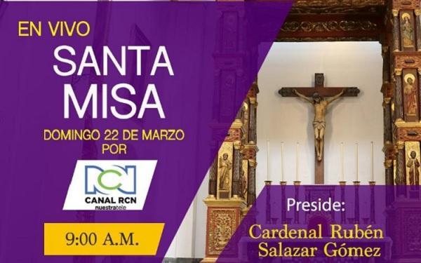 Opus Dei - Celebración eucarística del Cardenal Rubén Salazar en vivo por Canal RCN