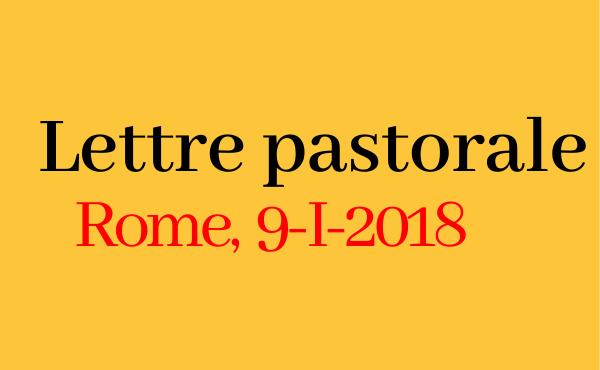 Opus Dei - Lettre du 9 janvier 2018