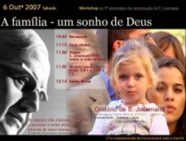 """Lisboa: workshop """"A família, um sonho de Deus"""""""
