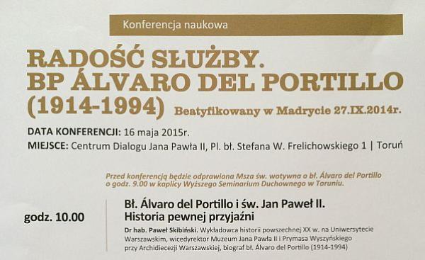 Konferencja w Toruniu: Radość służby. Bp Álvaro del Portillo (1914-1994)