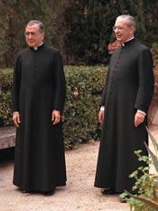 Den hellige Josemaria Escrivá og biskop Álvaro del Portillo i Castelldaura, Barcelona (Spanien) 27-XI-1972.