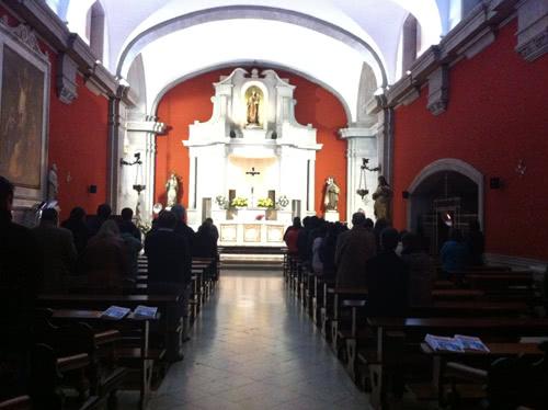 Interior de la capilla del Convento Carmelita Descalzas de San José.