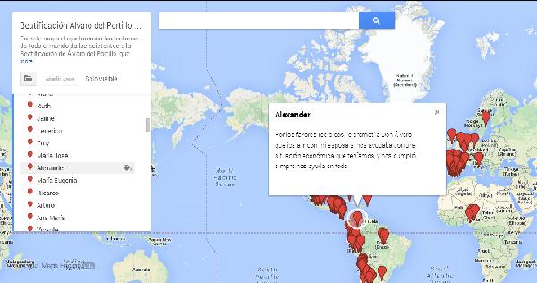 En el mapa se etiquetan las historias que llegan de todo el mundo.