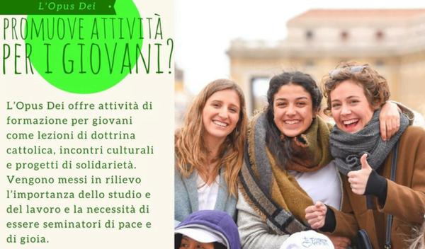 Opus Dei - L'Opus Dei promuove attività per i giovani?
