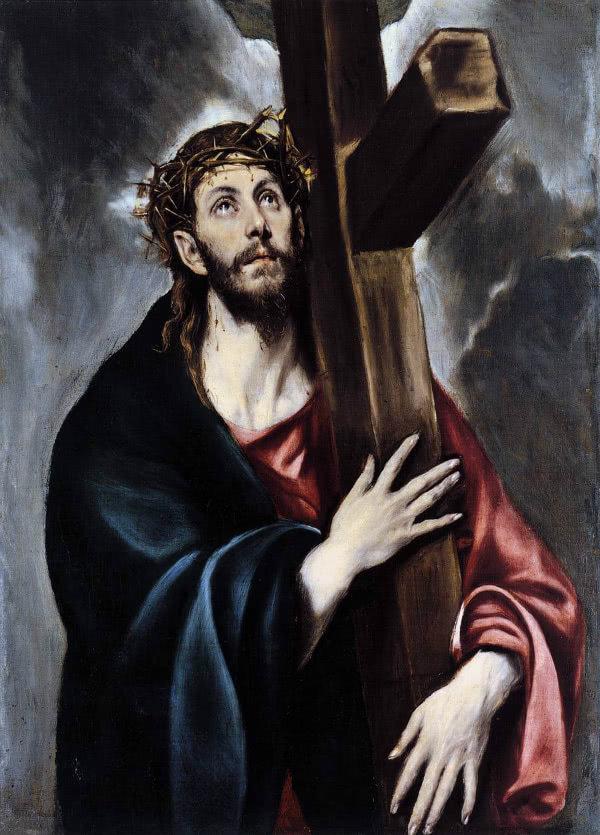 Cristo abrazado a la Cruz. El Greco (Wikipedia)