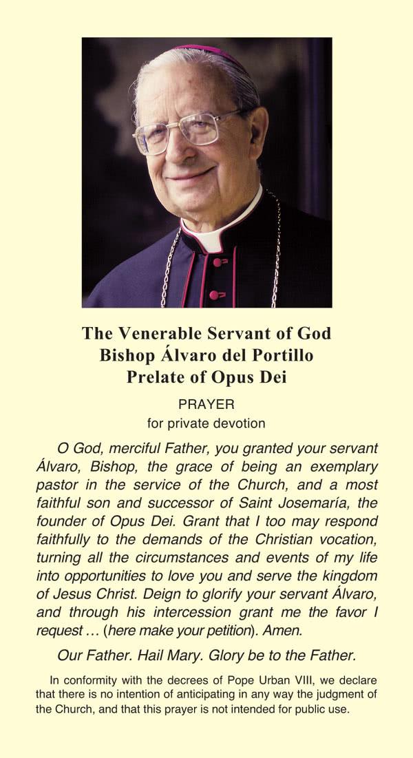 Opus Dei - Prayer for Bishop Alvaro del Portillo's intercession