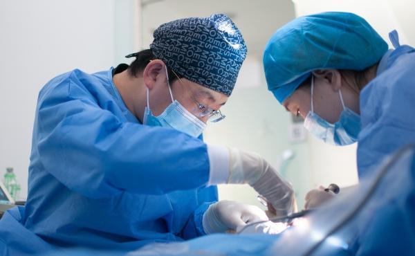 En el quirófano de un hospital
