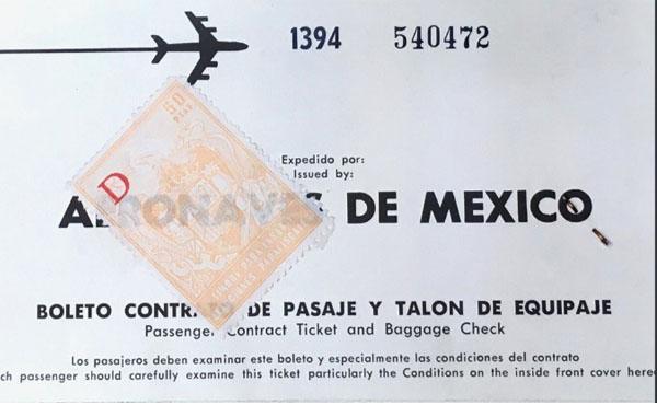 Rumbo a México con escala en Madrid 14 de mayo 1970