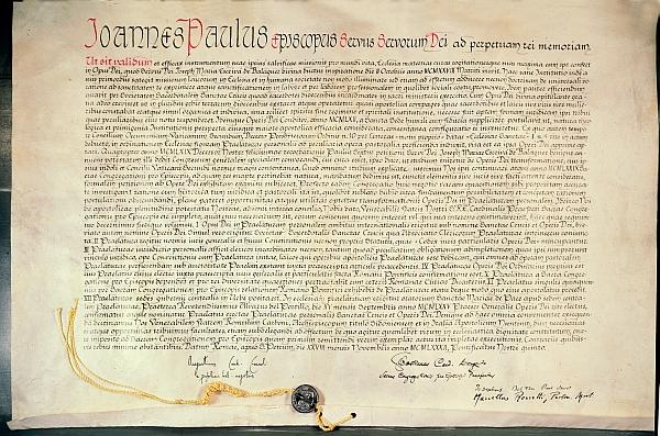 Opus Dei - Das Werk wurde rechtlich als Personalprälatur gefasst und befestigt