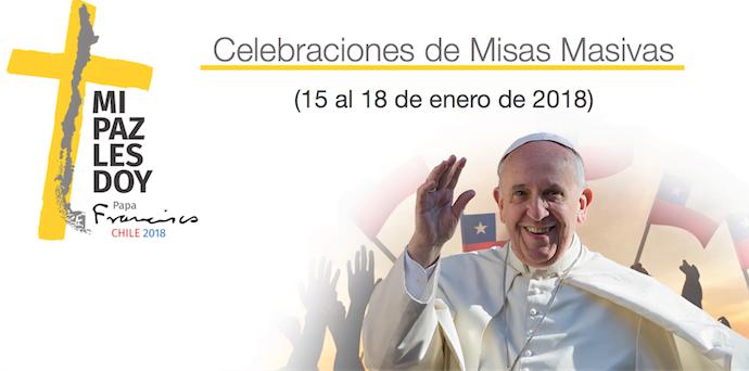 Opus Dei -  Recorridos del Papa en Chile , entradas y funcionamiento del METRO en Santiago